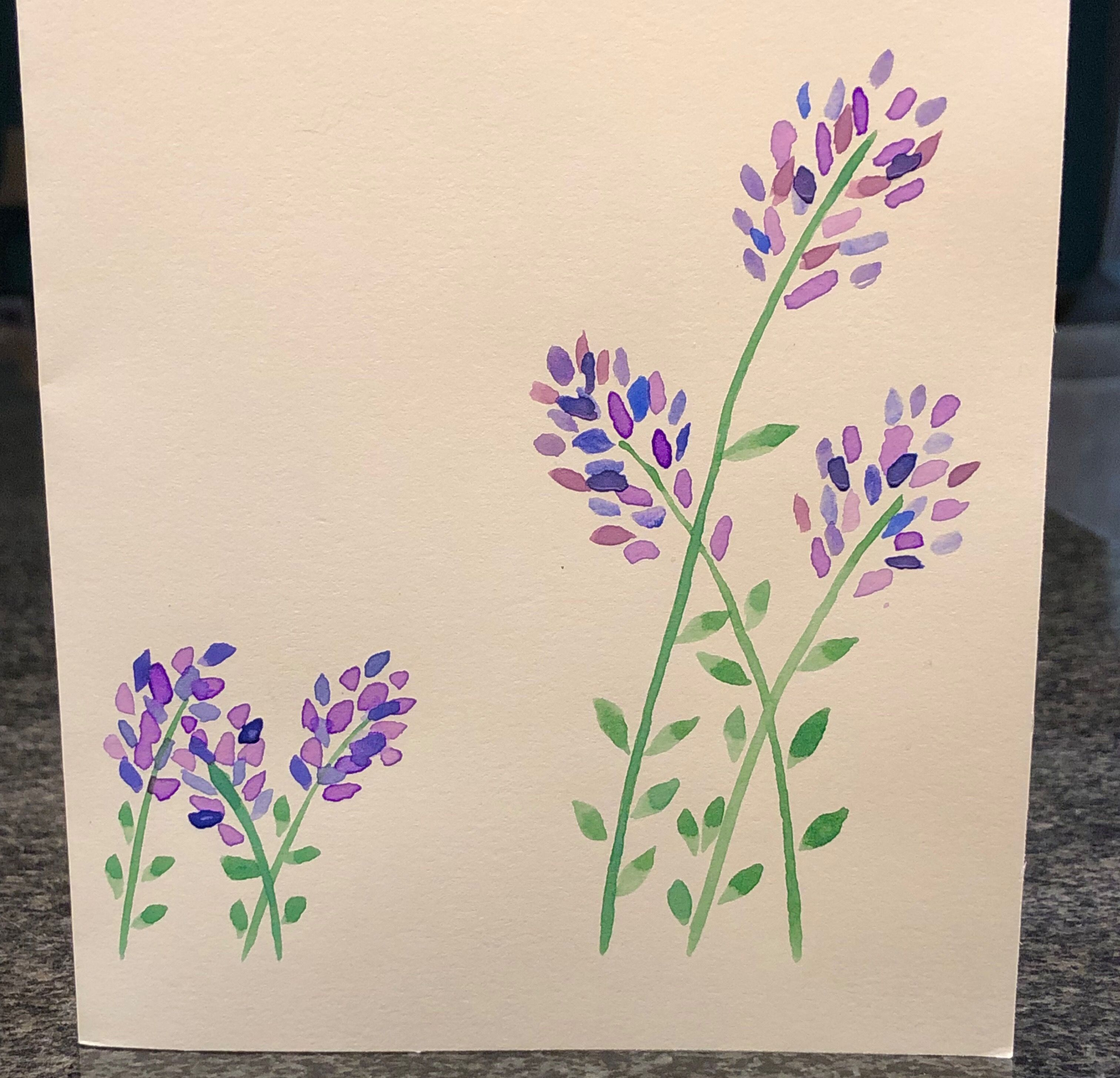 Customizable Blank Watercolor Card On Etsy Cards By Virginia Co