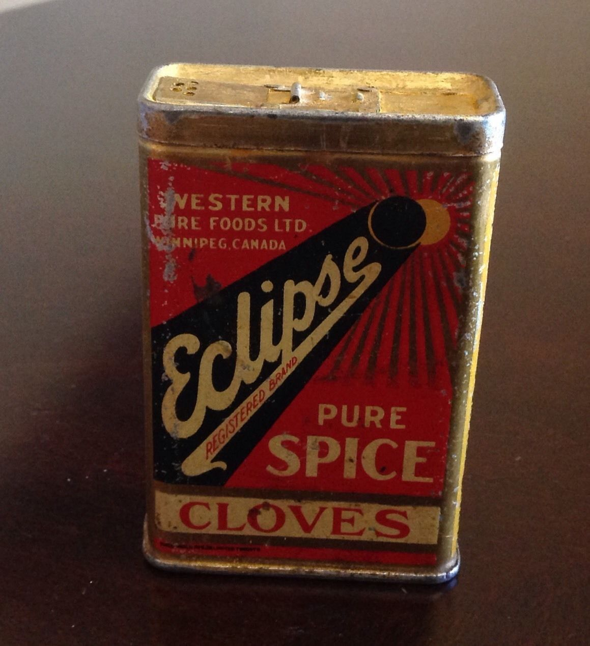 Vintage Eclipse Spice Tin Cloves Turmeric RARE Western Pure Foods Ltd Winnipeg | eBay