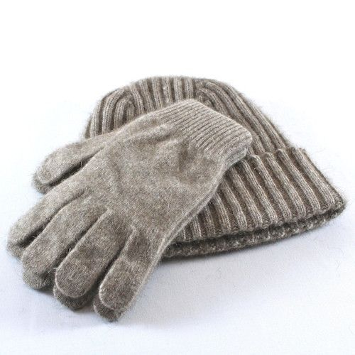 Комплект из шапки и перчаток из шерсти мерино и поссума (юнисекс) / Merino and possum set (hat and gloves), New Zealand