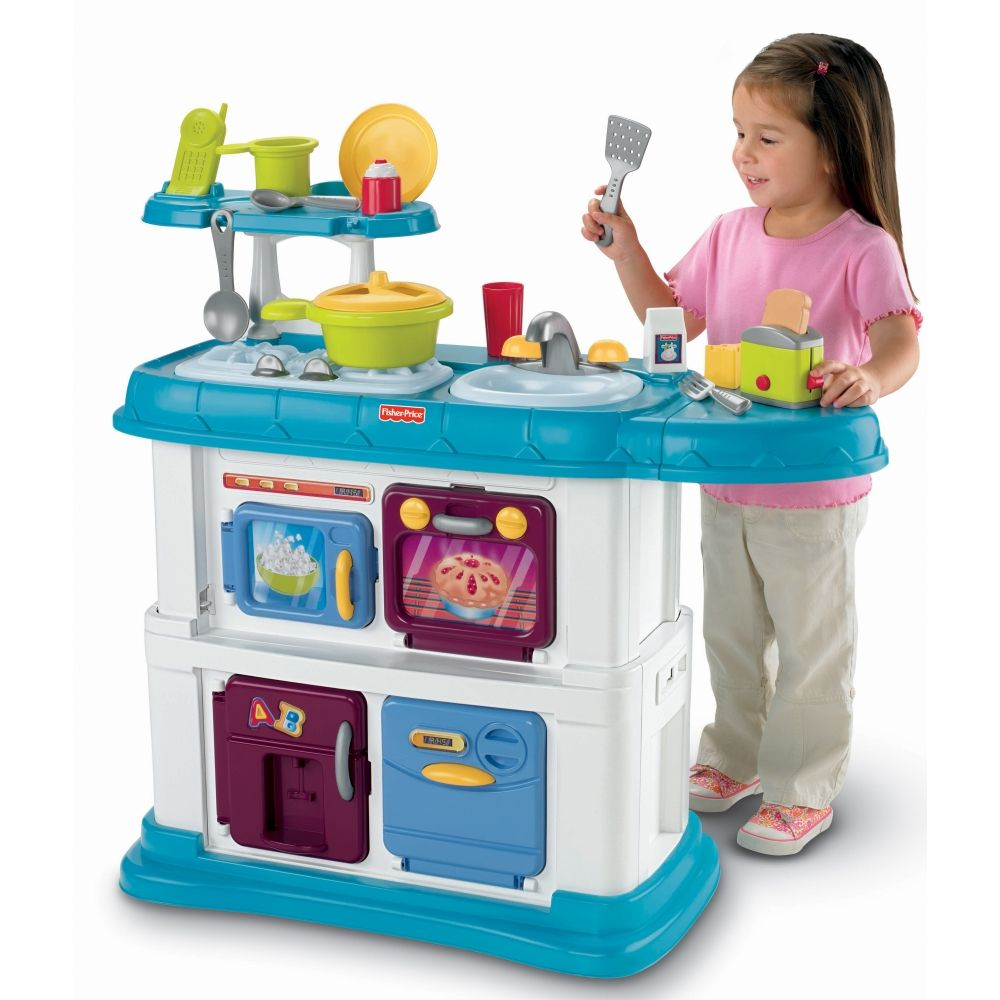 The Grow-With-Me Kitchen playset offers stimulating activities for ...