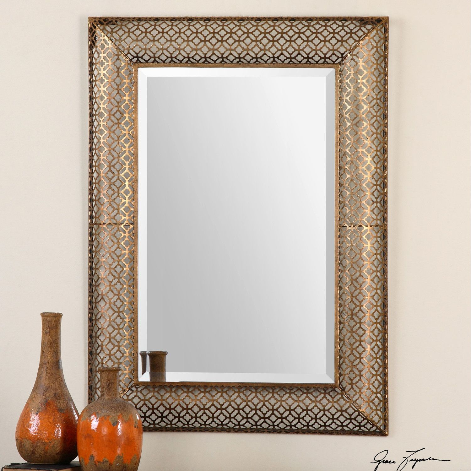 Uttermost Ariston Stamped Metal Mirror Mirror wall