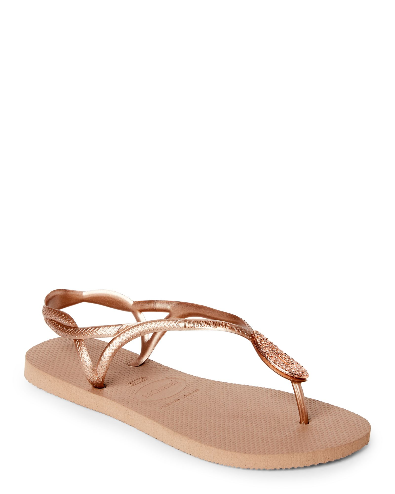 5d031ff96c6f53 Havaianas Rose Gold Luna Special Thong Sandals Rose Gold