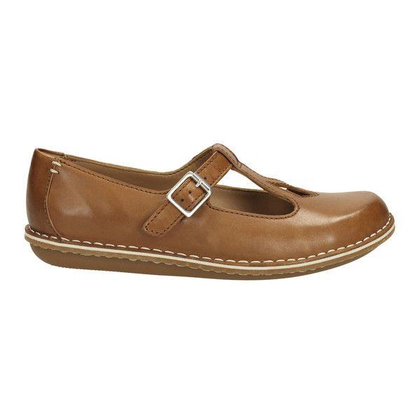 866496974b6e85 Clarks Women s Tustin Talent Leather Mary Jane Flats - Dark Tan (280 BRL) ❤