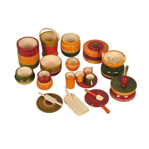 Kondapalli Big Size Cooking Set 15 Items Dolls Navaratri