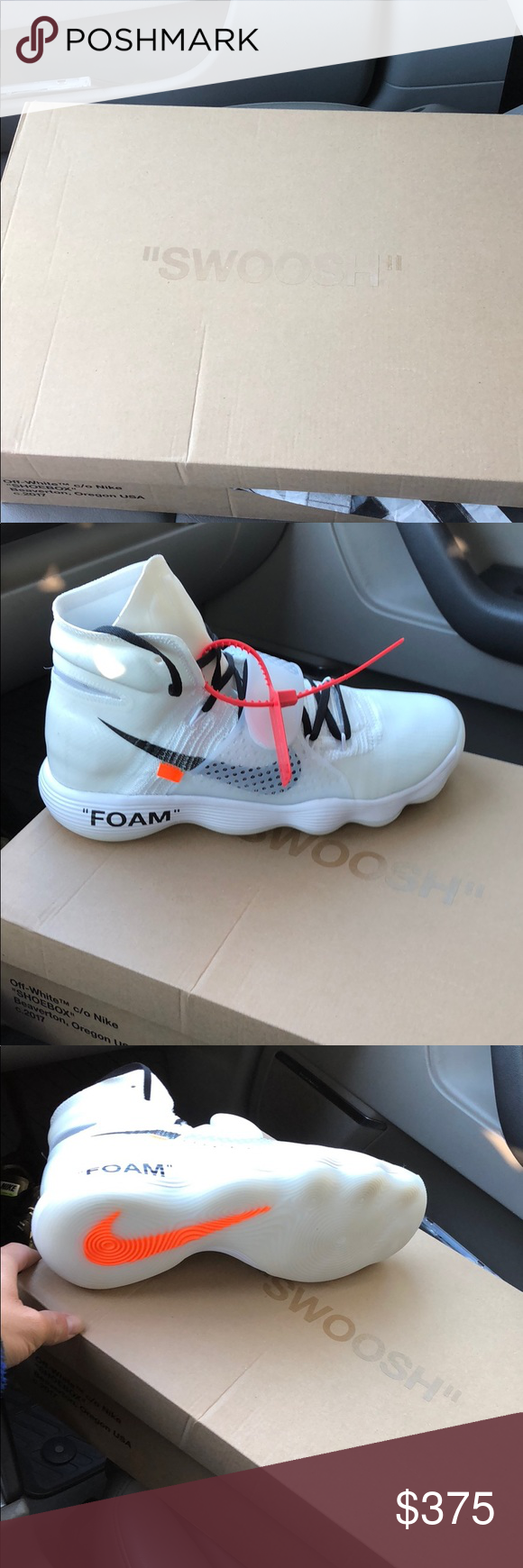 f05df0e520d1 OFF WHITE HYPERDUNKS BLACK LACED OFF WHITE VIRGIL HYPERDUNKS SIZE 11.5 COMES  WITH TWO OTHER PAIRS OF LACES (and original laces) Nike Shoes Sneakers