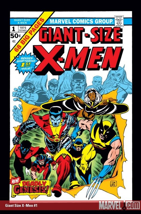 Giant Size X Men 1 Marvel Comic Books Comic Book Covers Comic Covers