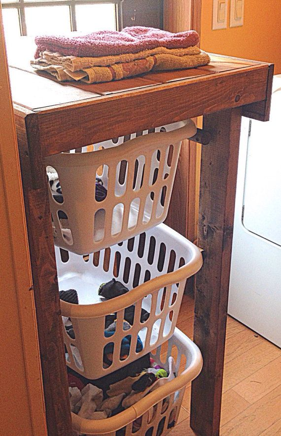 The Laundry Basket Stand Delivers An Unique Character And Texture