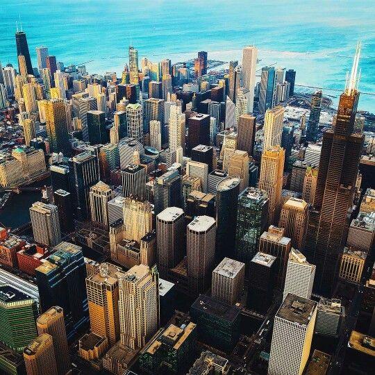 Aerial view of sky line