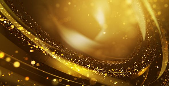 Gold Particles Background Full HD 1920×1080 30 fps Seamless