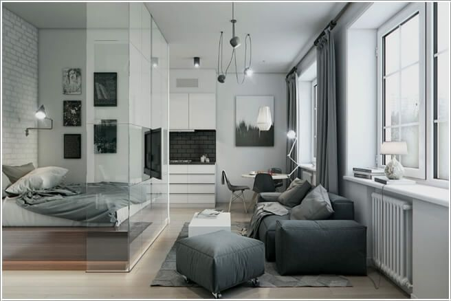 Clever Ways To Design A Living Room And Bedroom Combo Apartment Design Inspiration Small Apartment Bedrooms Small Apartment Design