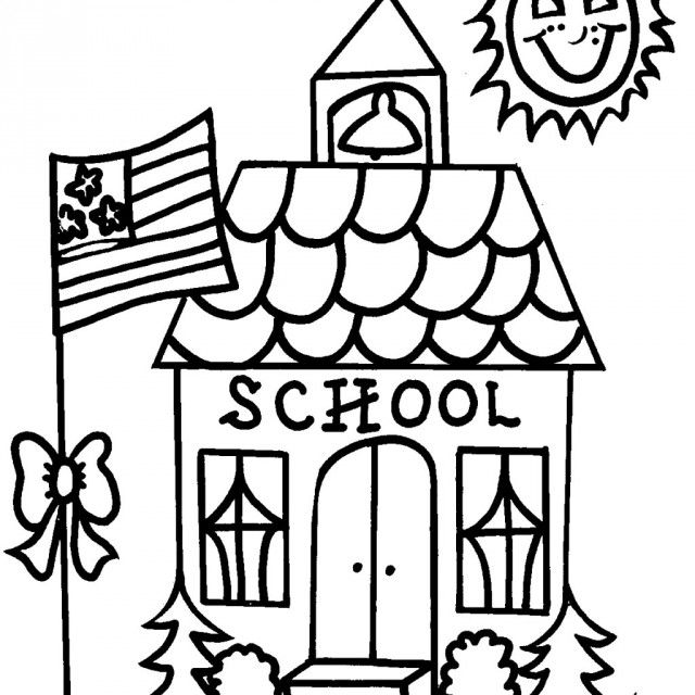 school coloring pages 01 | School | Pinterest | School colors ...