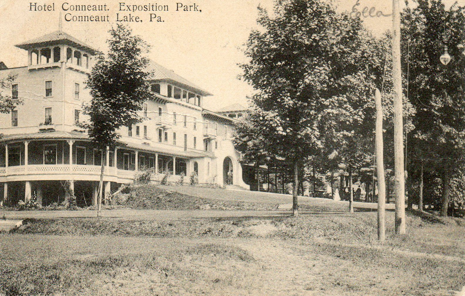 Hotel Conneaut Exposition Park In Lake Pa 1909