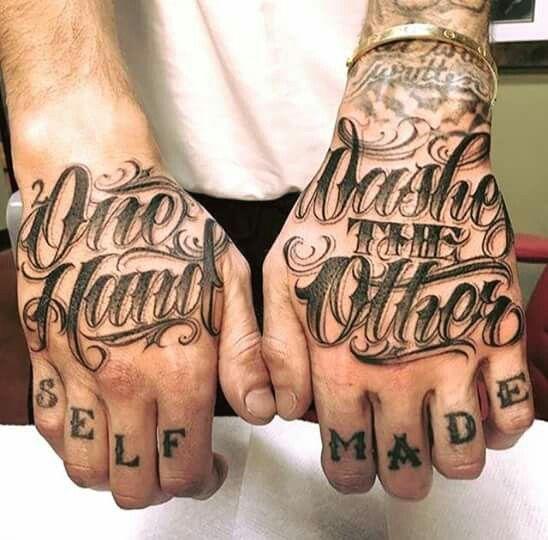 Pin By Sanctobin On Tattoo Tattoo Lettering Knuckle Tattoos