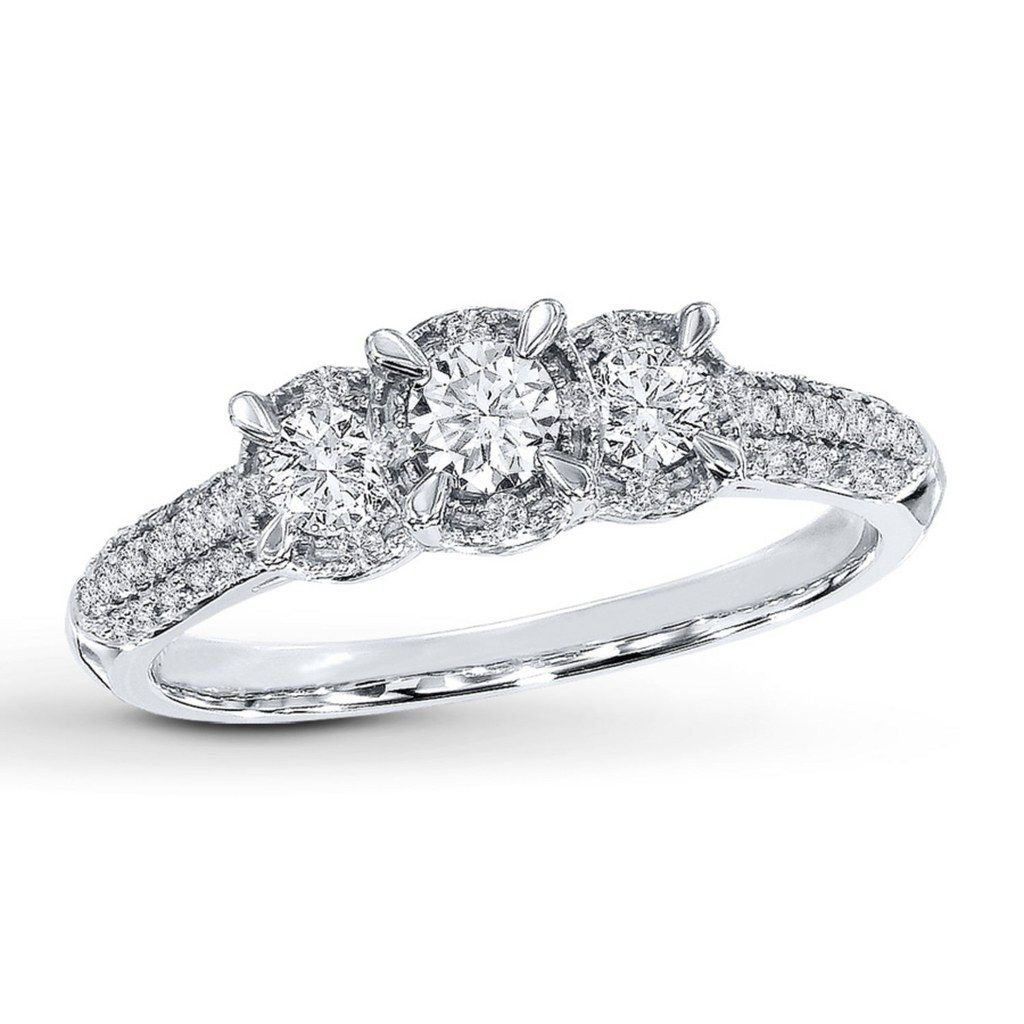 three ring stone settings present future wedding engagement rings best past of