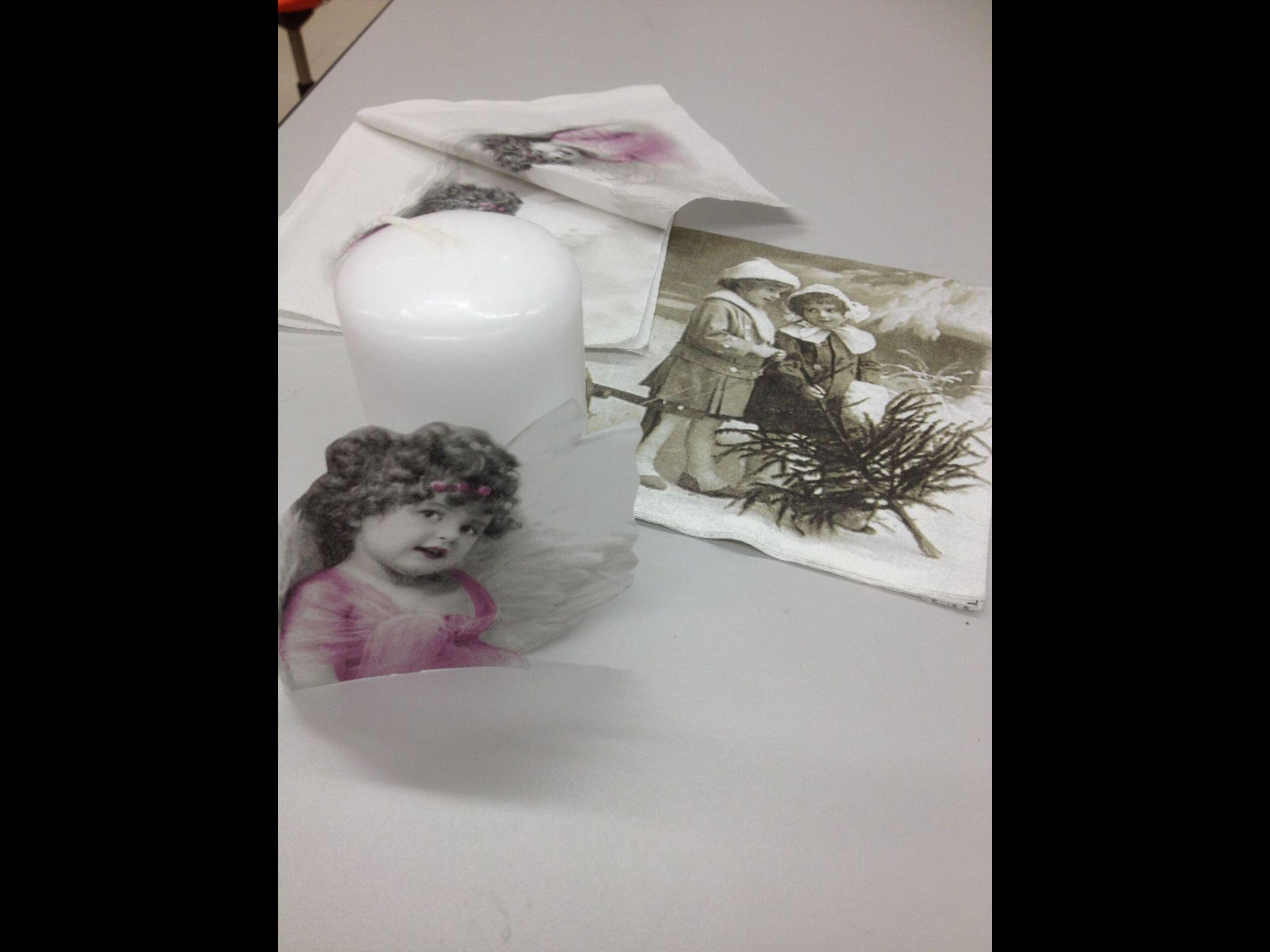 Kynttilän koristelu