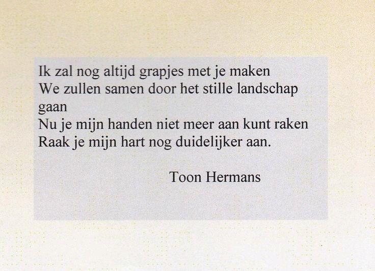 Super Extreem Gedicht Herinnering Toon Hermans IJ58 | Belbin.Info #CO67