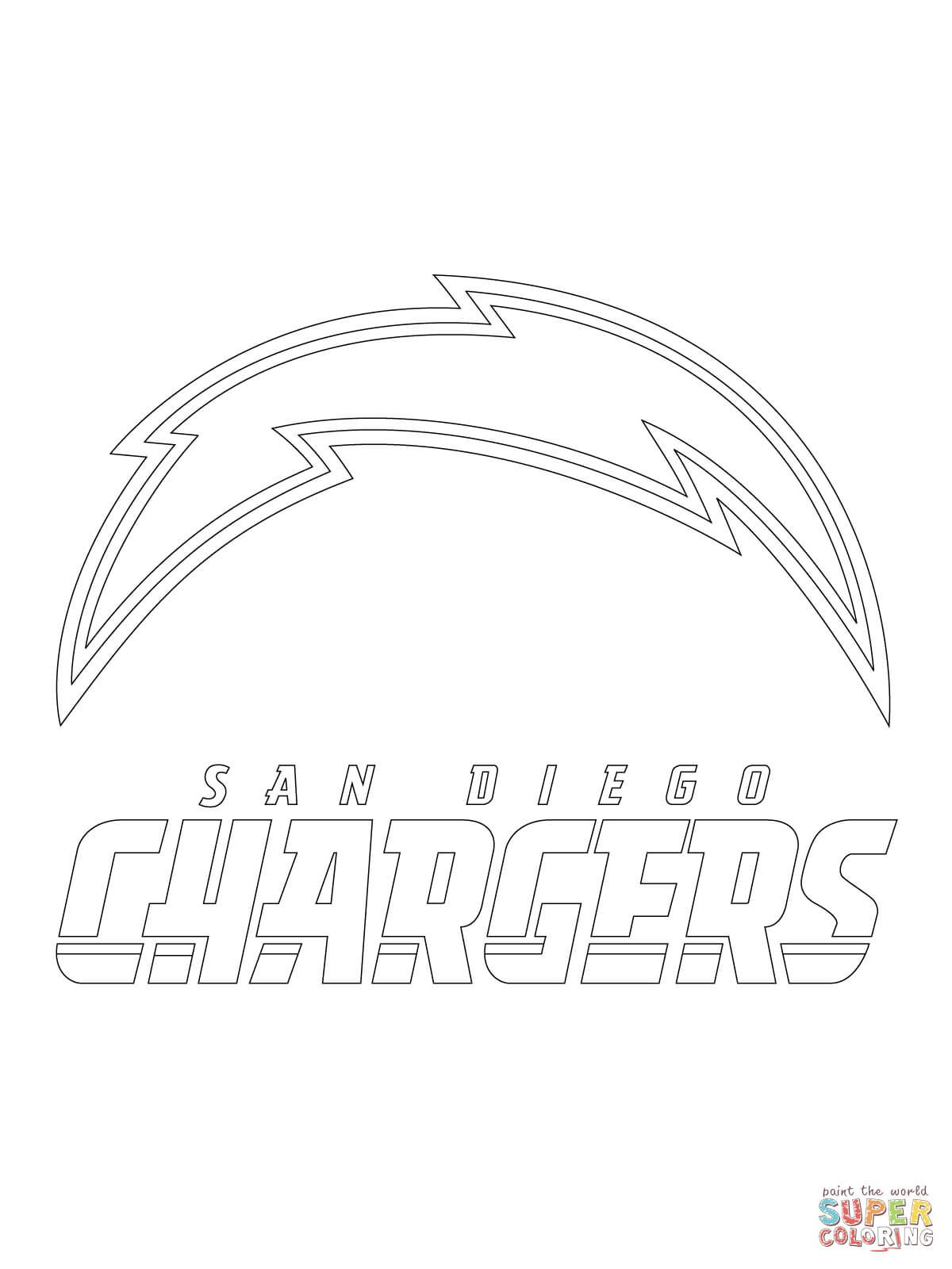 san diego chargers logo coloring page free printable coloring pages