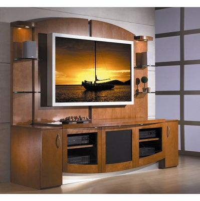 Flat Panel Screen Tv Stand With Back Jazzy