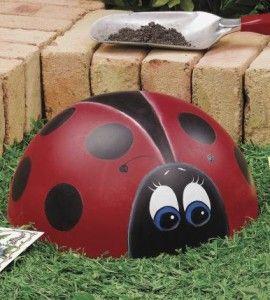Merveilleux Concrete Ladybug Garden Craft | DIY Garden Decor | Ladybug Crafts U2014 Country  Woman Magazine