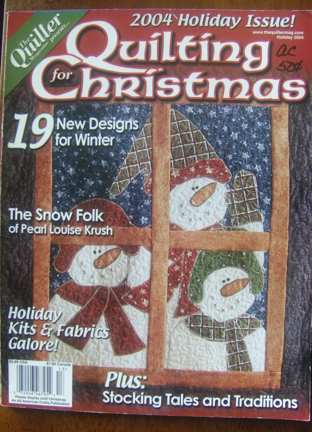 The Quilter Magazine Quilting for Christmas 2004 Discover the ... : quilting prices - Adamdwight.com