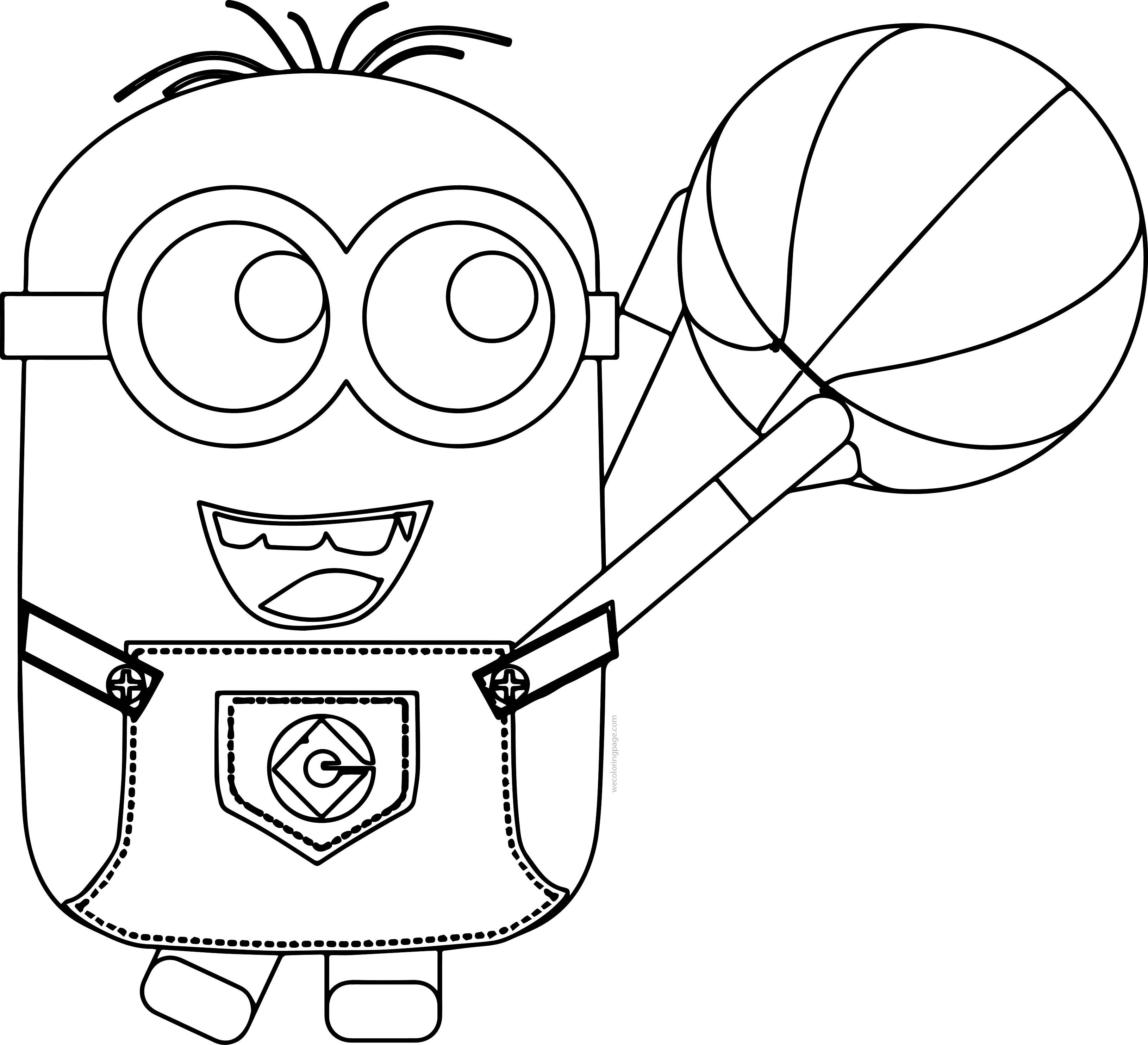 Minion Playing Basketball Coloring Pages