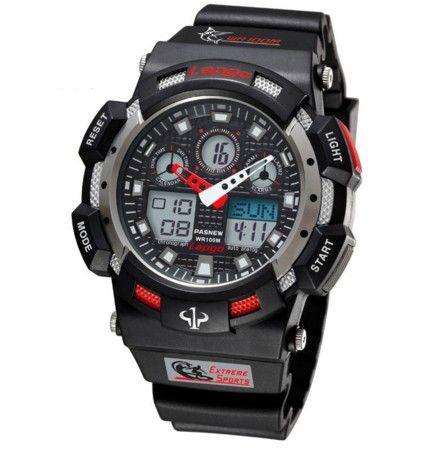 bfc257993fc Pánské sportovní hodinky voděodolné do 100m černé – pánské hodinky Na tento  produkt se vztahuje nejen zajímavá sleva
