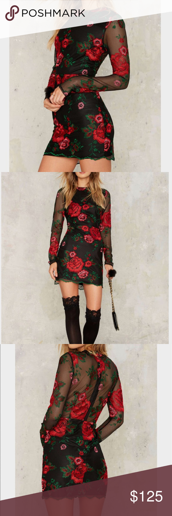 Nasty gal get sprung embroidered mini dress boutique embroidery