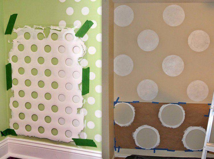peinture d corative dessin g om trique sublimez les murs. Black Bedroom Furniture Sets. Home Design Ideas