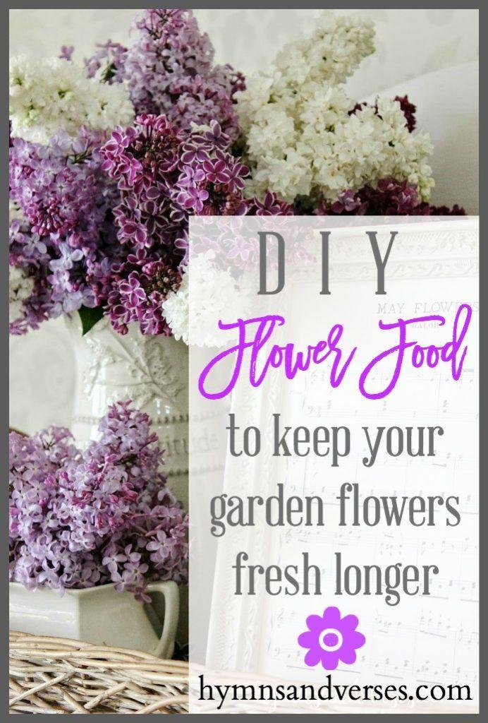 Diy Flower Food Flower Food Diy Flowers Flowers
