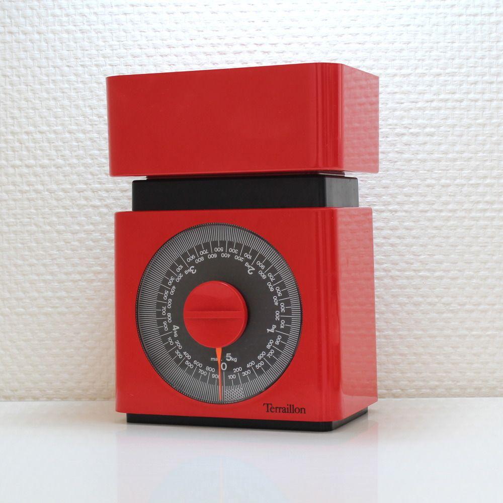 Image Of Balance De Cuisine Rouge Terraillon Vintage