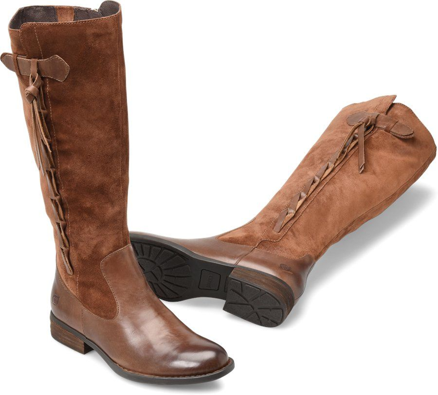 9bdea8e7049 Born Shoes Cook Leather Tall Women s Boots - Brown Boots for Women ...