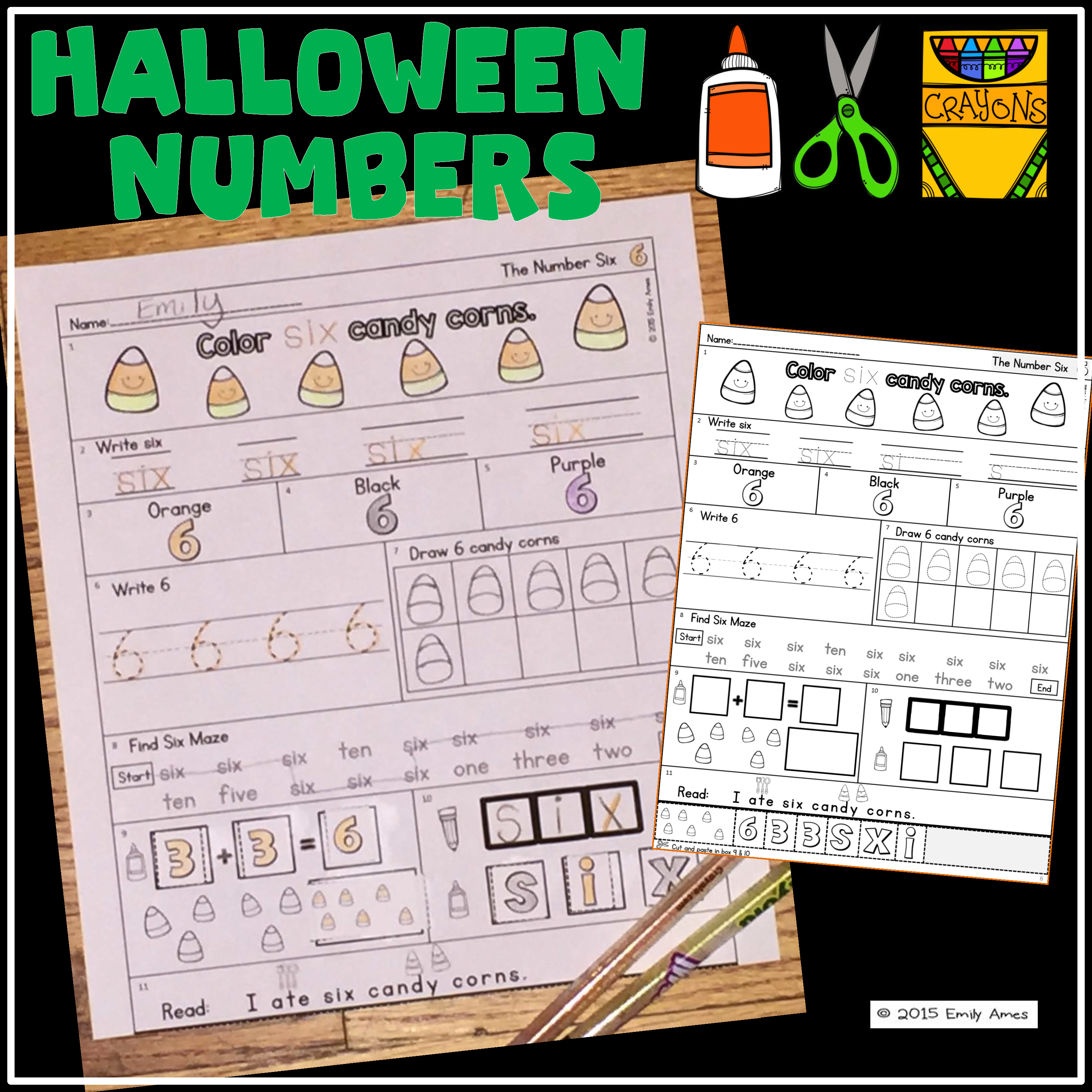 Halloween Numbers 1 10 Number Words And Numbers Practice