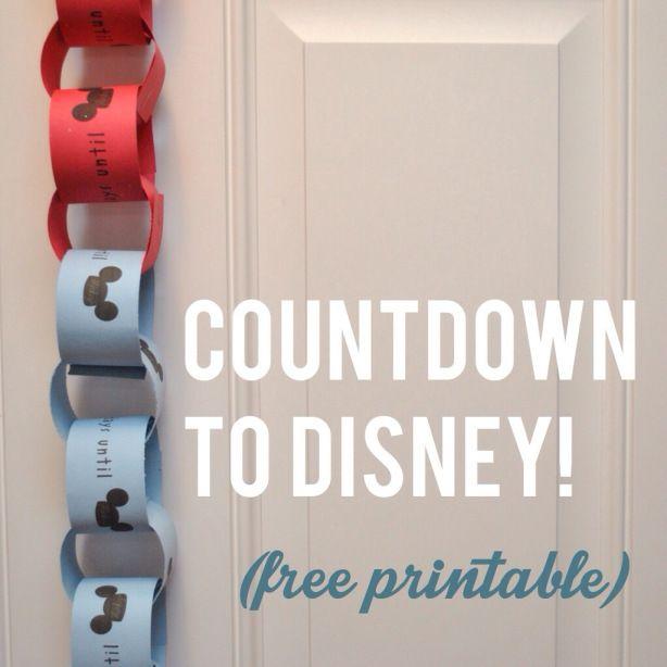 Countdown to Disney!                                                                                                                                                                                 Mais