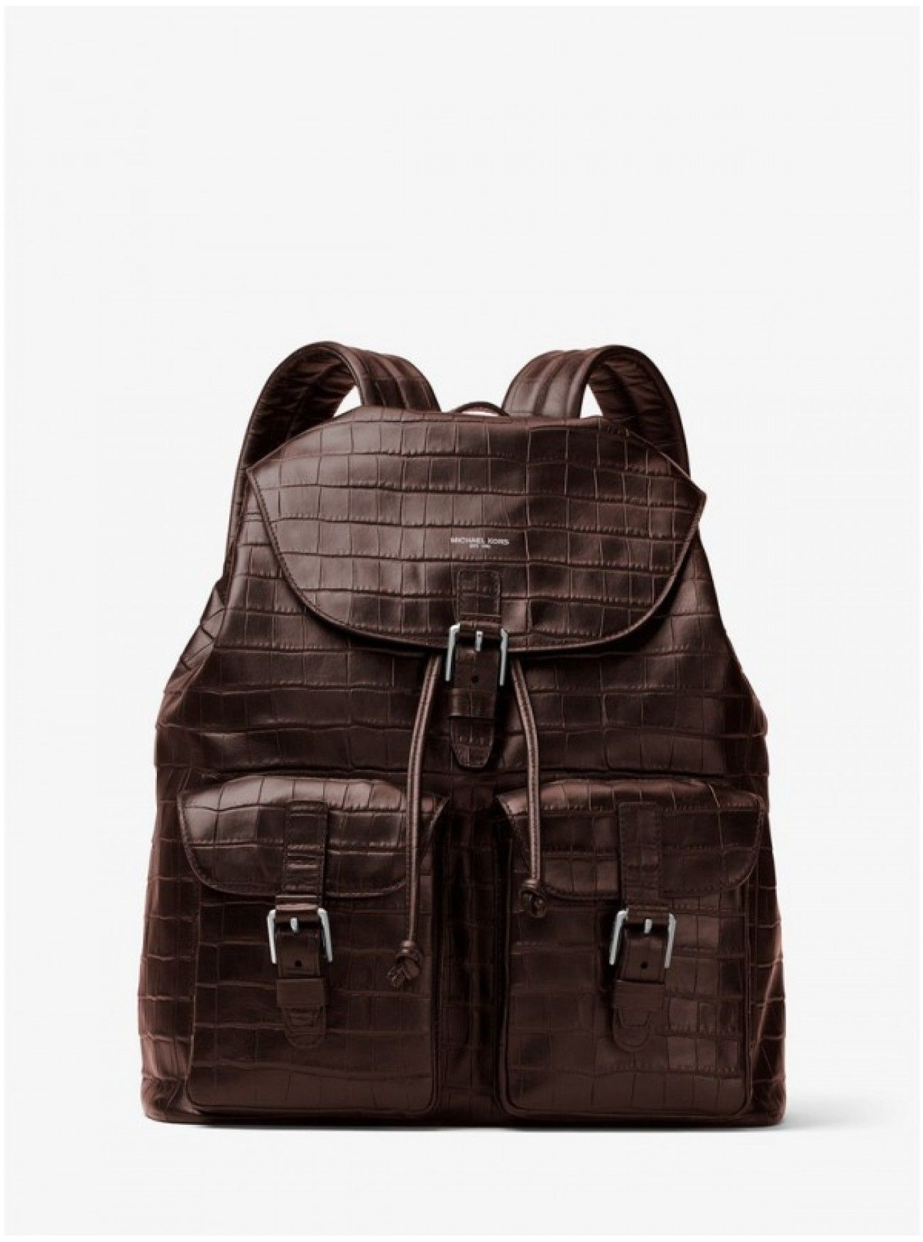426fe6c8200a Online Michael Kors Mens Bryant Embossed-Leather Backpack BROWN Low Price