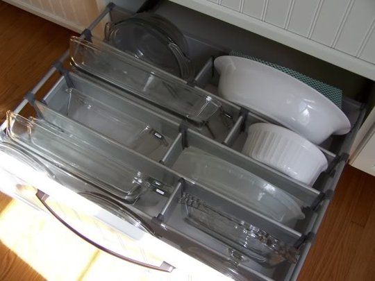 Better Kitchen Organization File Your Pots And Pans In Drawers Kitchen Drawer Organization Kitchen Organization Kitchen Cabinet Organization