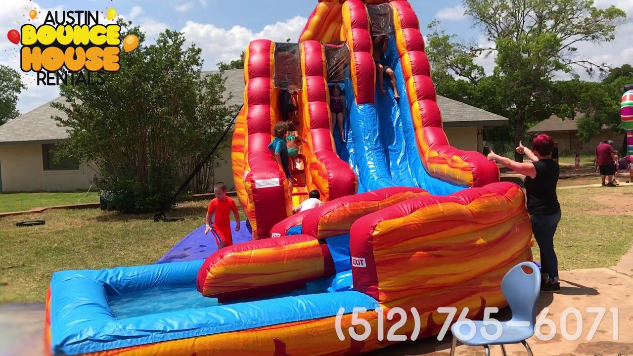 Austin bounce house rentals cool water slides for triple