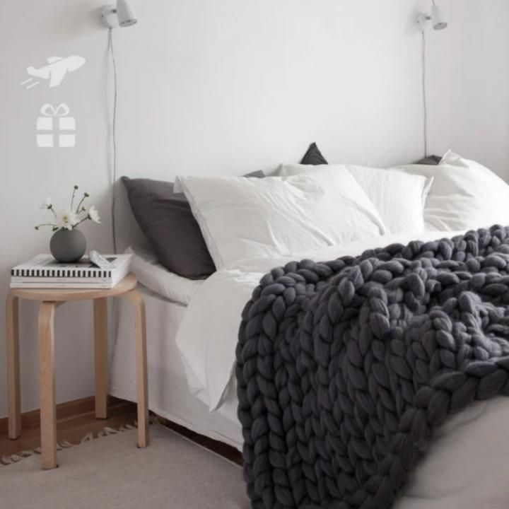 Photo of Chunky Knitted Blanket