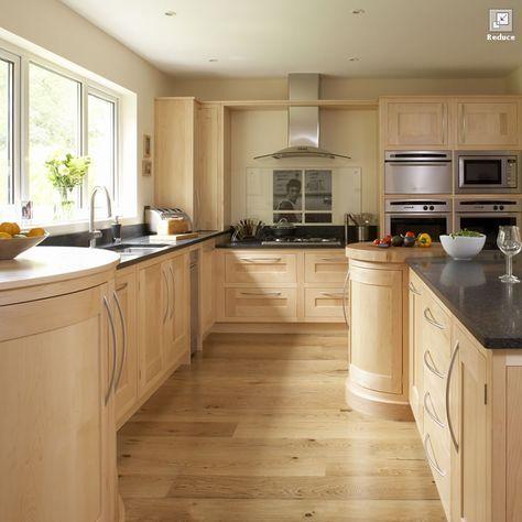 Interior kitchen design: contemporary maple kitchen ...