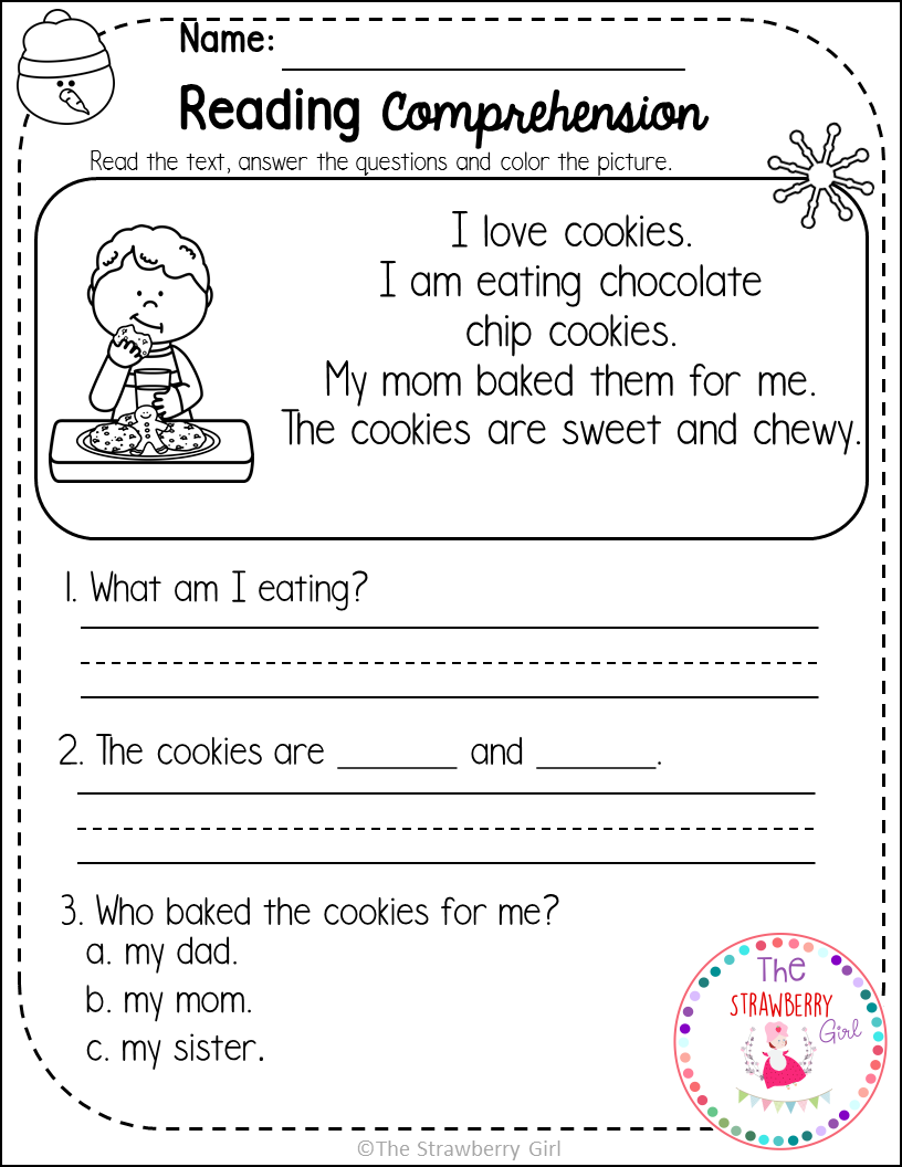 - Kindergarten Reading Comprehension Passages - Winter Reading