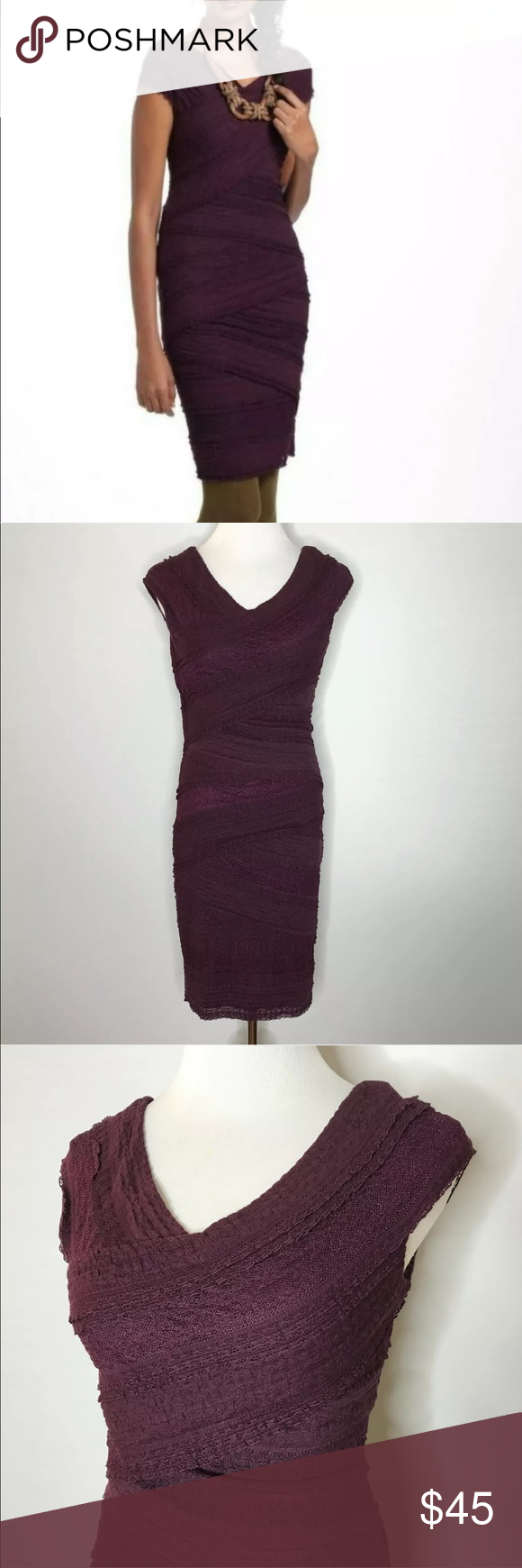 Nwt Bailey 44 Lace Tiered Plum Dress New With Tags