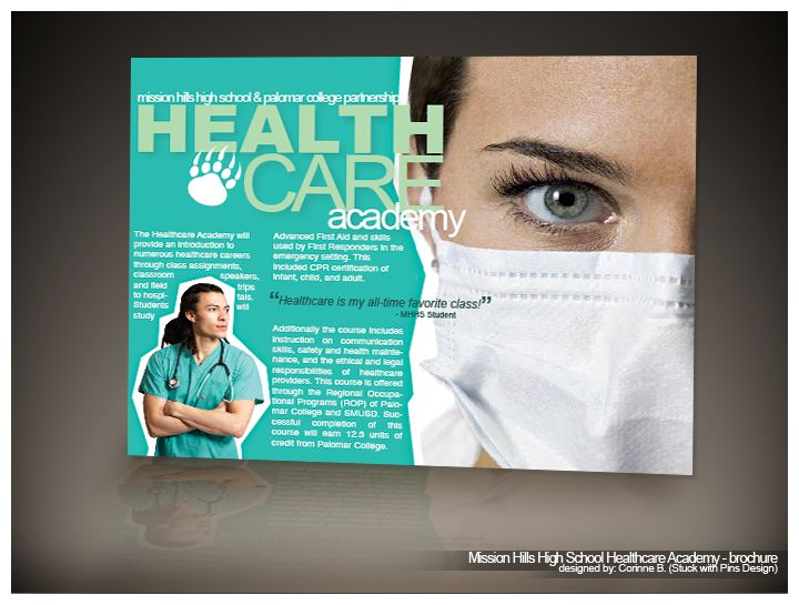 MHHS Healthcare Brochure by stuckwithpins Graphic Design - healthcare brochure