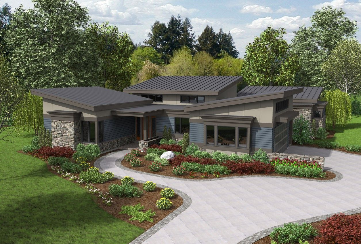 You Deserve A Stunning Home Design Plan 1242a The Caprica Is A 2749 Sqft Contemporary Beautiful House Plans Contemporary House Plans Ranch Style House Plans