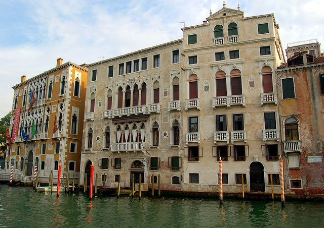 Venice Italy - Venetian Palaces on the Grand Canal ...