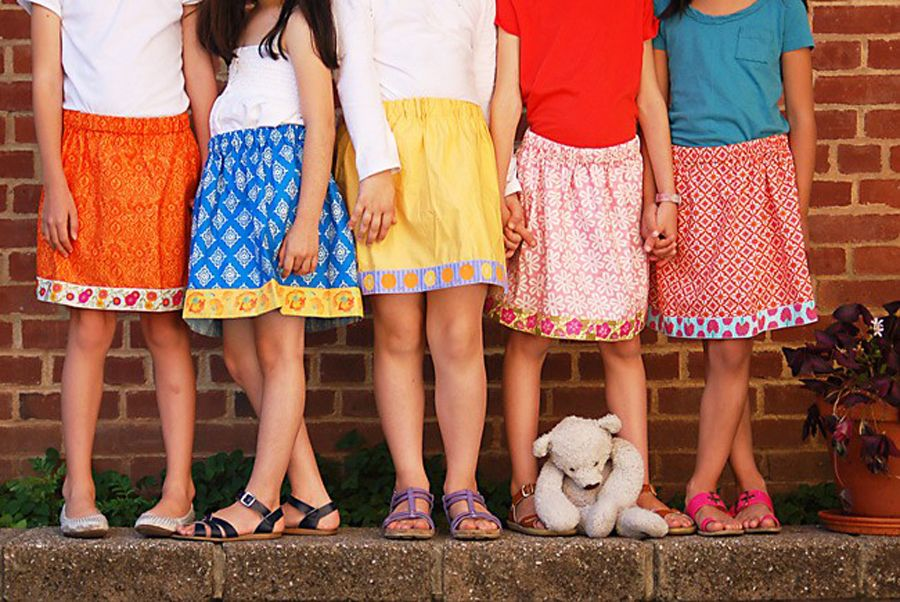 Lazy Days of Sewing - easy little girls skirt tutorial