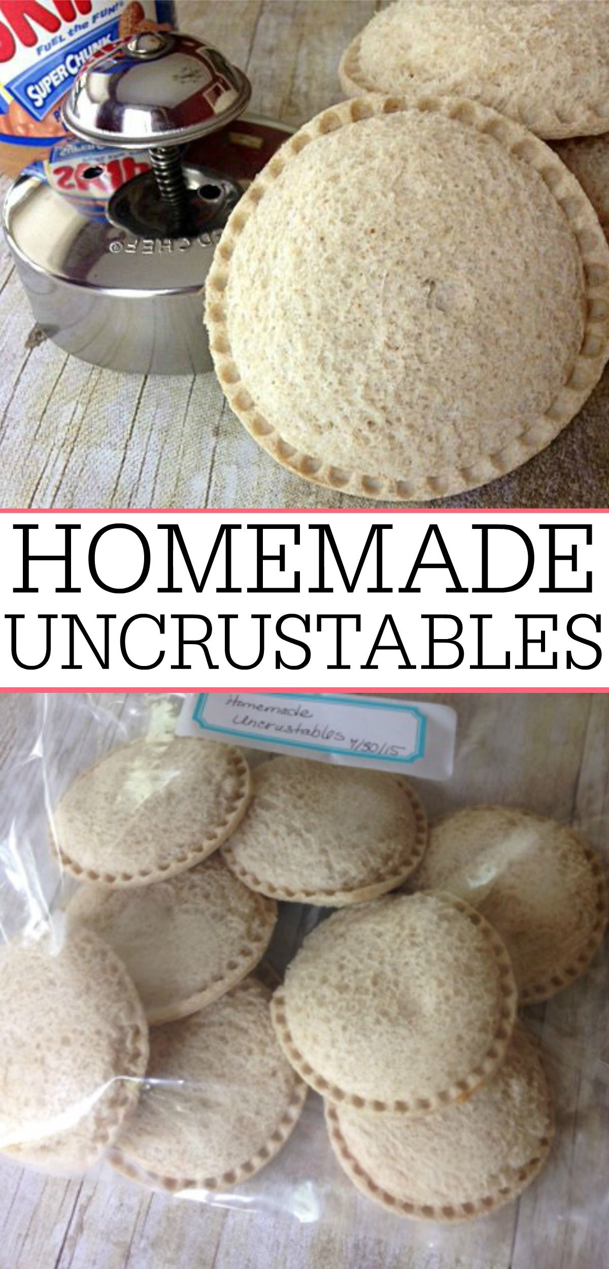 Homemade Uncrustables   Homemade, Lunches and Freezer