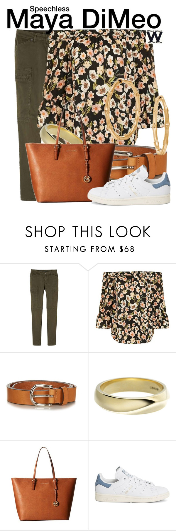 """""""Speechless"""" by wearwhatyouwatch ❤ liked on Polyvore featuring prAna, Topshop, Étoile Isabel Marant, Shaun Leane, MICHAEL Michael Kors, adidas, John Hardy, television and wearwhatyouwatch"""