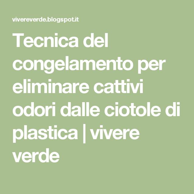 Tecnica del congelamento per eliminare cattivi odori dalle ciotole di plastica | vivere verde