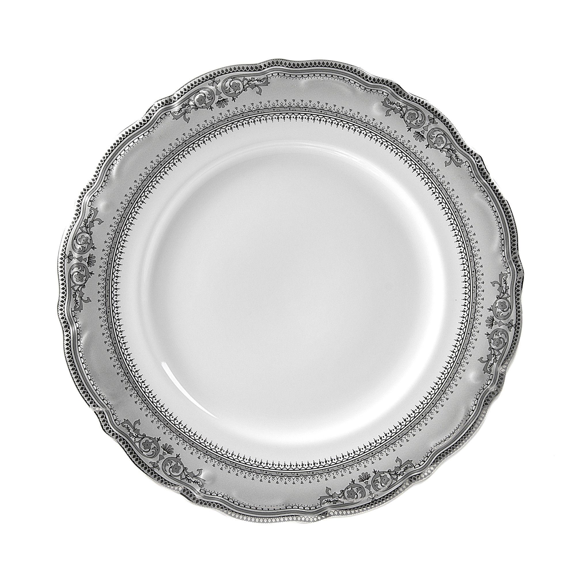 "Vanessa Platinum 10.5"" Dinner Plate (Set of 6)"