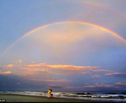 Rainbow(s): Awesome rainbow on the beach.