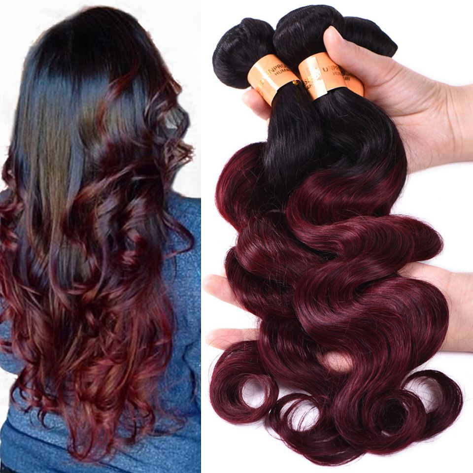 Cheap Brazilian Hair Weave Bundles Ombre Hair Extensions Free
